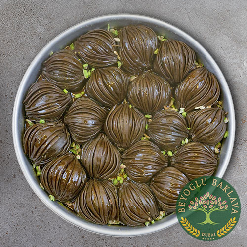 Midye(Mussel) Baklava With Chocolate 1 Tray 2KG